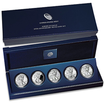 2011 Silver Eagle 25th Anniversary Set A25